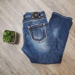 Miss Me Jeans Bling Cropped Boyfriend Capri Sz 29